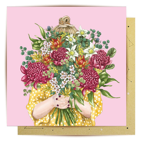 Lalaland - Girl Bouquet Greeting Card