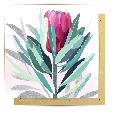 Lalaland - Mini Greeting Card, Protea