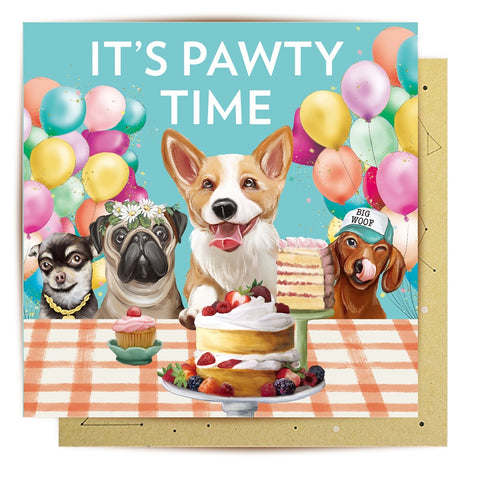 Lalaland - Mini Greeting Card, Pawty Time