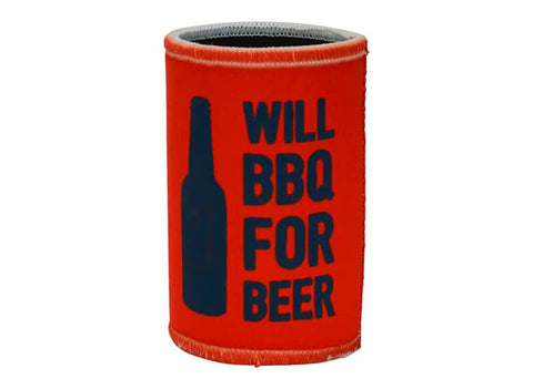 Annabel Trends - Can/Stubbie Cooler, Will BBQ for Beer