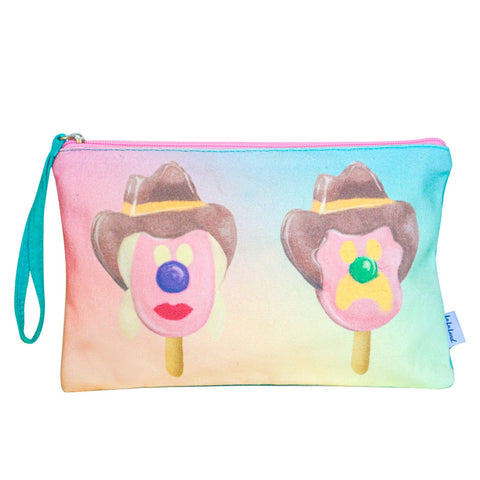 Lalaland - Canvas Clutch Bag, Bubble O'Bill