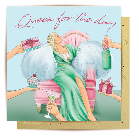Lalaland - Queen for the Day Greeting Card