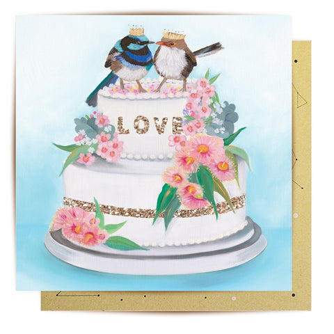 Lalaland - Love Birds Greeting Card