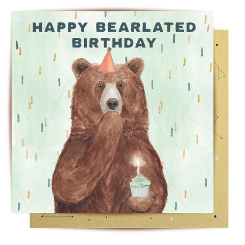 Lalaland - Happy Bearlated Birthday Greeting Card