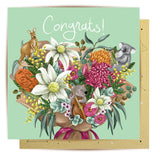 Lalaland - Musical Bouquet Critters Greeting Card