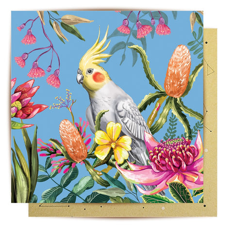 Lalaland - Cockatiel Paradiso Greeting Card