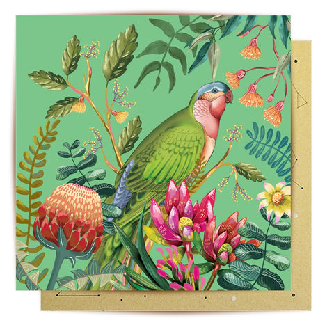 Lalaland - Princess Parrot Paradiso Greeting Card