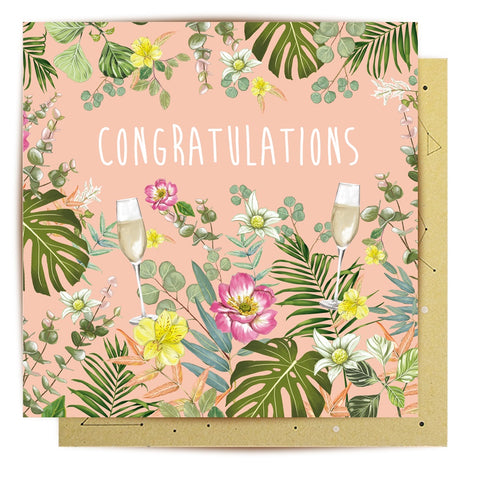 Lalaland - Floral Congratulations Greeting Card