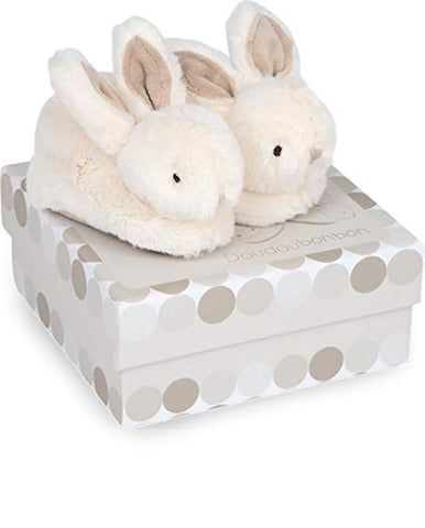 Doudou et Compagnie - Bunny Booties 0-6 months, Taupe