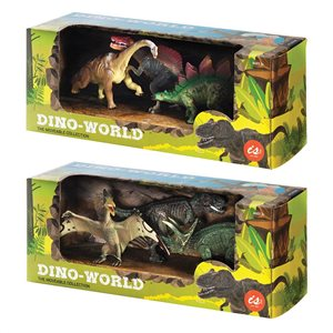 IS GIFT - Dinoworld - Set of 3 Dinosaurs, Assorted Styles