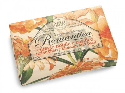 Nesti Dante - Romantica Soap 250g, Noble Cherry Blossom and Basil