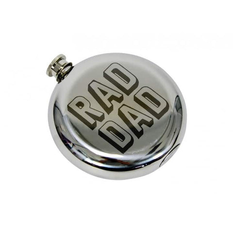 Annabel Trends - Round Hip Flask, Rad Dad