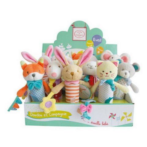 Doudou et Compagnie - Pouet Pouet! Squeaky Baby Toy, Assorted Styles