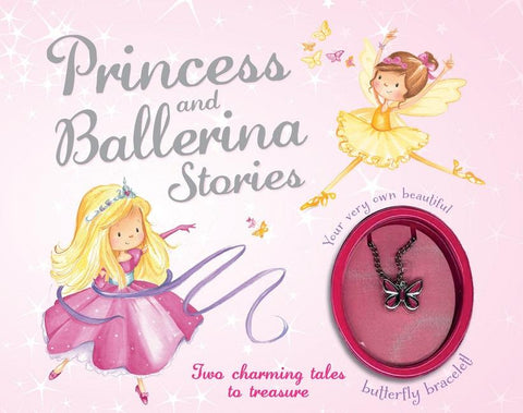 Princess and Ballerina Stories Gift Set with Butterfly Charm Bracelet