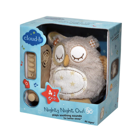 Cloud b - Nighty Night Owl On The Go with 4 Soothing Sounds