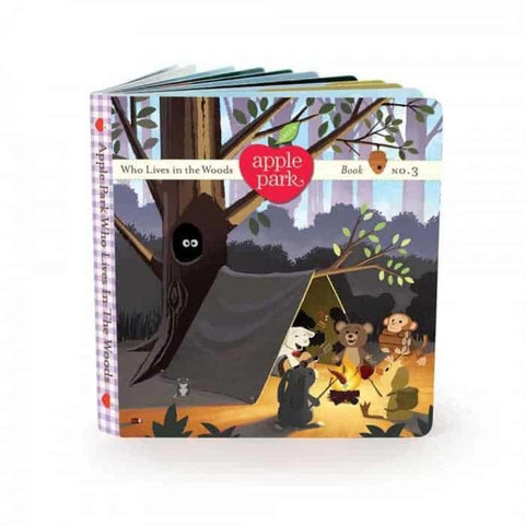 Apple Park - Board Book No. 3, Who Lives in the Woods (100% Organic)