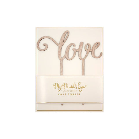 My Minds Eye - Wooden Cake Topper, Love