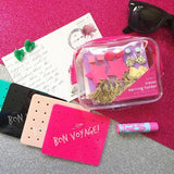 Bon Maxie - Bon Voyage Travel Earring Holder, Bright Pink