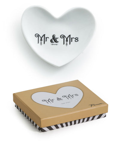 Rosanna Inc. - Cross My Heart Trinket Tray, Mr and Mrs
