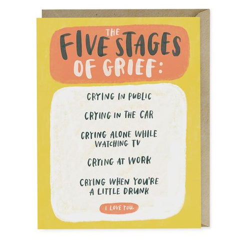 Emily McDowell Studio - The Five Stages of Grief Empathy Greeting Card
