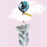 Lalaland - Far, Far Away Koala Greeting Card