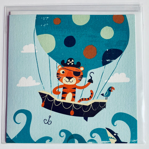 Tiger Tribe - Pirate Tiger Greeting Card