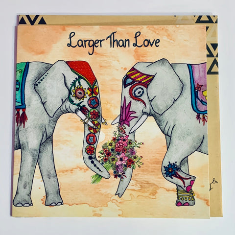Lalaland - Larger Than Love Greeting Card