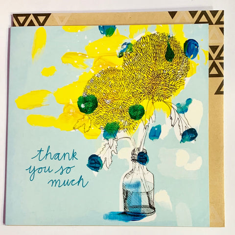 Lalaland - Thank You Dhalia Greeting Card
