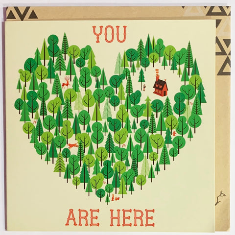 Lalaland - You Are Here Greeting Card