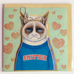 Lalaland - Smitten Greeting Card with Ply Wood Keepsake