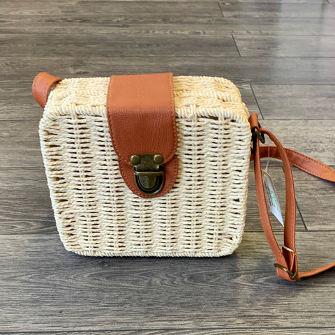 Free Spirit Australia - Wicker Box Shoulder Bag, Natural