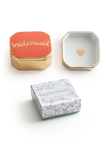 Rosanna Inc. - Love Trinket Dish with Lid, Bridesmaid