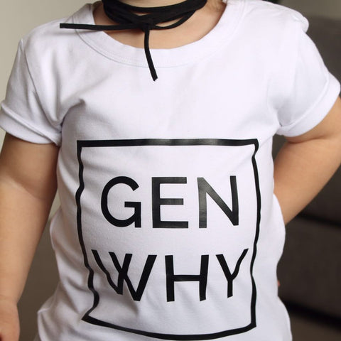 Max and Lauren - Gen Why Short Sleeve Tee, White