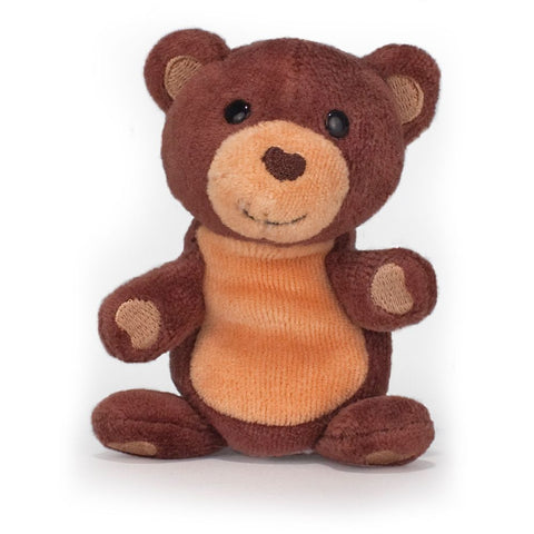 Apple Park - 100% Organic Finger Puppet, Cubby Bear