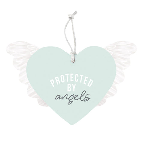 Splosh - Protected by Angels Hanging Heart, Mint