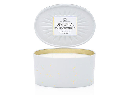 Voluspa - 50hr Luxe Candle, Bourbon Vanille