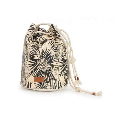 Annabel Trends - Palm Bucket Bag, Black