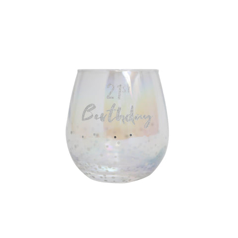 Splosh - Celebration DIY Stemless Wine Glass, Silver