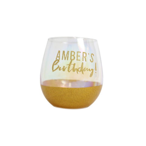 Splosh - Celebration DIY Stemless Wine Glass, Gold