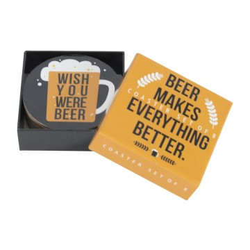 Annabel Trends - Coaster Set, Beer Makes Everything Better