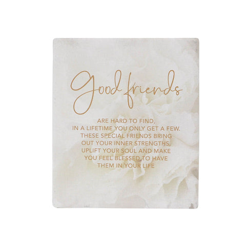 Splosh - Full Bloom Ceramic Gift Plaque, Good Friends