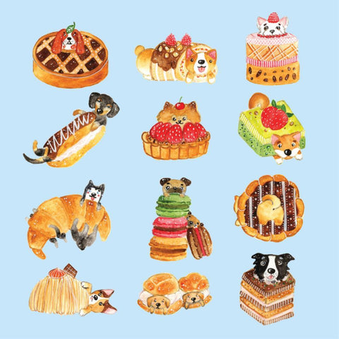 Lalaland - Pastry Dogs Greeting Card