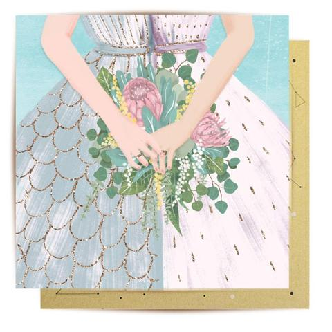 Lalaland - Mrs and Mrs Bouquet Greeting Card