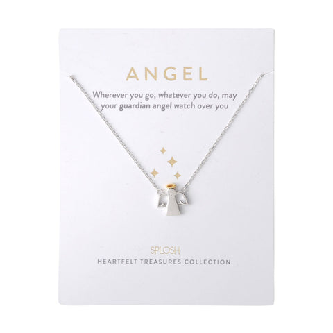 Splosh - Heartfelt Treasures Sterling Silver Necklace, Angel