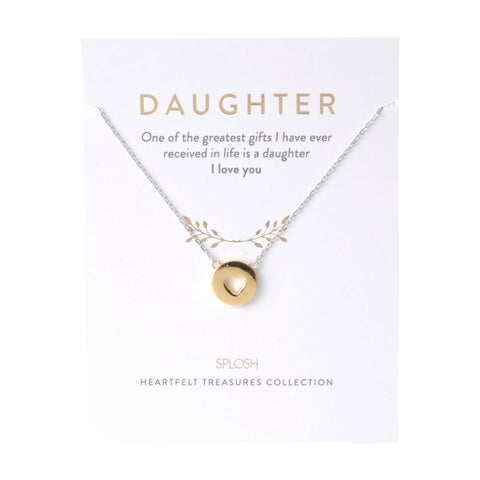 Splosh - Heartfelt Treasures Sterling Silver Necklace, Daughter
