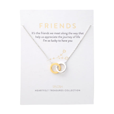Splosh - Heartfelt Treasures Sterling Silver Necklace, Friends