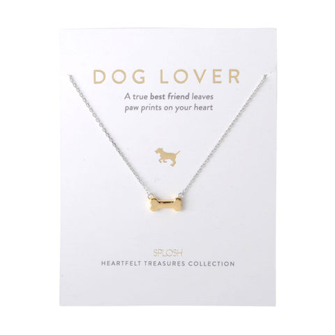 Splosh - Heartfelt Treasures Sterling Silver Necklace, Dog Lover