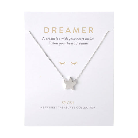 Splosh - Heartfelt Treasures Sterling Silver Necklace, Dreamer