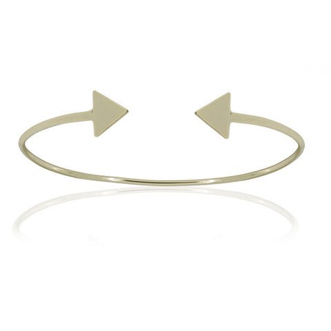 Inspirit Design - Triangle Bangle, Silver