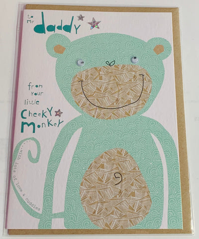 Springtime - To My Daddy from Your Little Cheeky Monkey Greeting Card